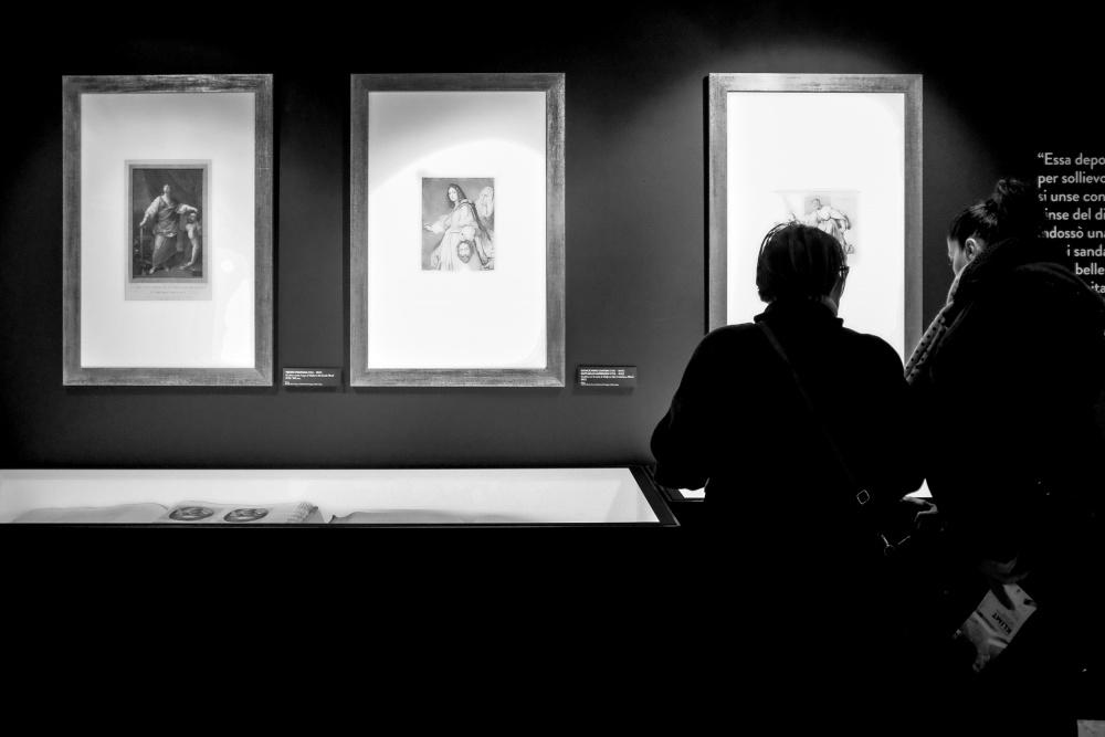 Visitatori alla Mostra