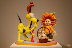 JEFF KOONS (1955) - Wild Boy e cucciolo (1988)