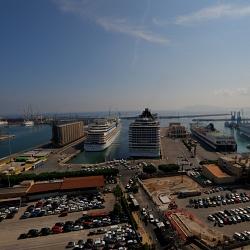 Il Porto visto dal 14mo piano della Camera di Commercio