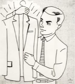 ROY LICHTENSTEIN (1923-1997) - Uomo con giacca