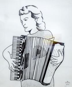 ROY LICHTENSTEIN (1923-1997) - Ragazza con fisarmonica (1961)