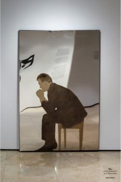 MICHELANGELO PISTOLETTO (1933) - Uomo seduto, 1963