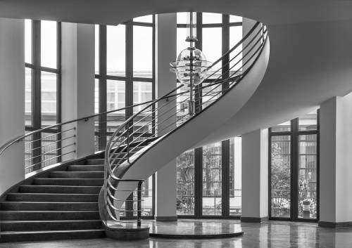 IG Metall Building, interno, Berlino Germania 2017
