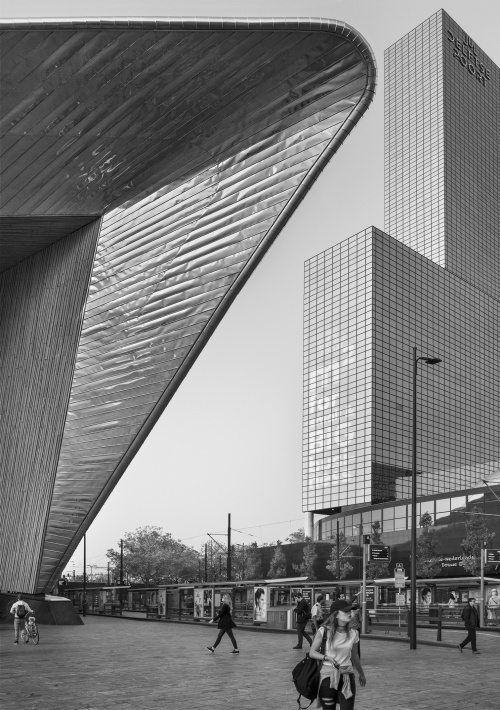 Centraal Station. Rotterdam, Olanda 2017