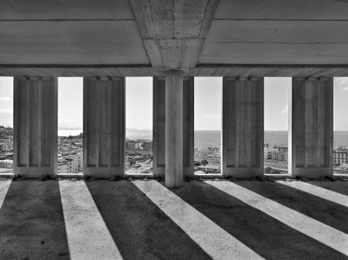 Palazzo di Giustizia, cantiere di Salerno, 14  marzo  2012 ore 10:30. Architetto David Chipperfield