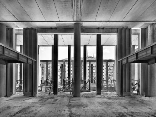 Palazzo di Giustizia. cantiere di Salerno, 14 marzo  2012 ore 11:20. Architetto David Chipperfield