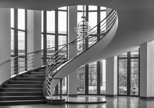 Interno IG Metall Building. Berlino, Germania 2017